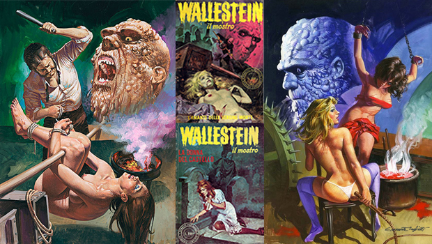 Images of three Wallestein fumetti book covers