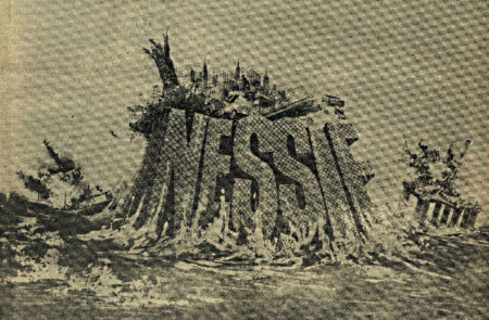 The poster of the film NESSIE, with the title coming out of a large body of water