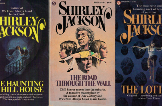 Three book cover images from works by Shirley Jackson